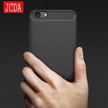 vivo X9 plus + phone Case bag Carbon Fibre Brushed TPU soft protective Smart back shell Shockproof JCDA For V5 plus lite cover