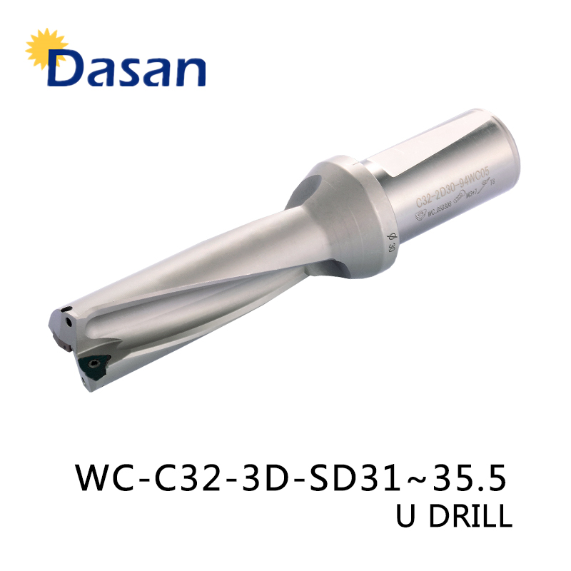 U Drill Bit 3D WC SP C32 SD 31 32 33 34 35 mm U drilll and High speed Water drill for Metal Cutter Tool-in Drill Bits from Tools    1
