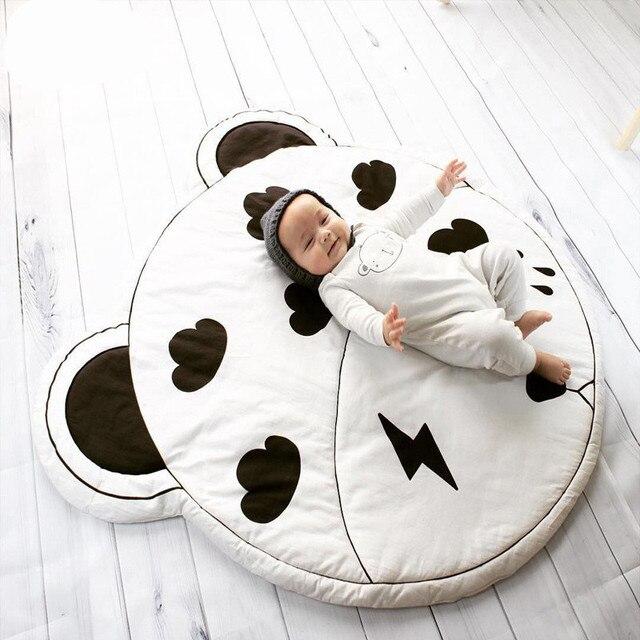 95cm Round Baby Playmat Nursery Rug Crawling Mat Teepee Floor Mats