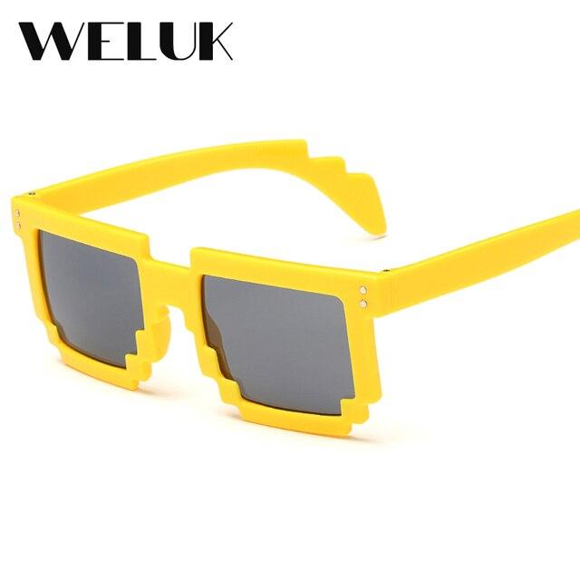 18e13087dc5c WELUK Multi Color Mosaic Frame Cool Unique Fashion Boys Girls Irregular  Sunglasses Women Outdoor Sport Eyewear Glasses Oculos