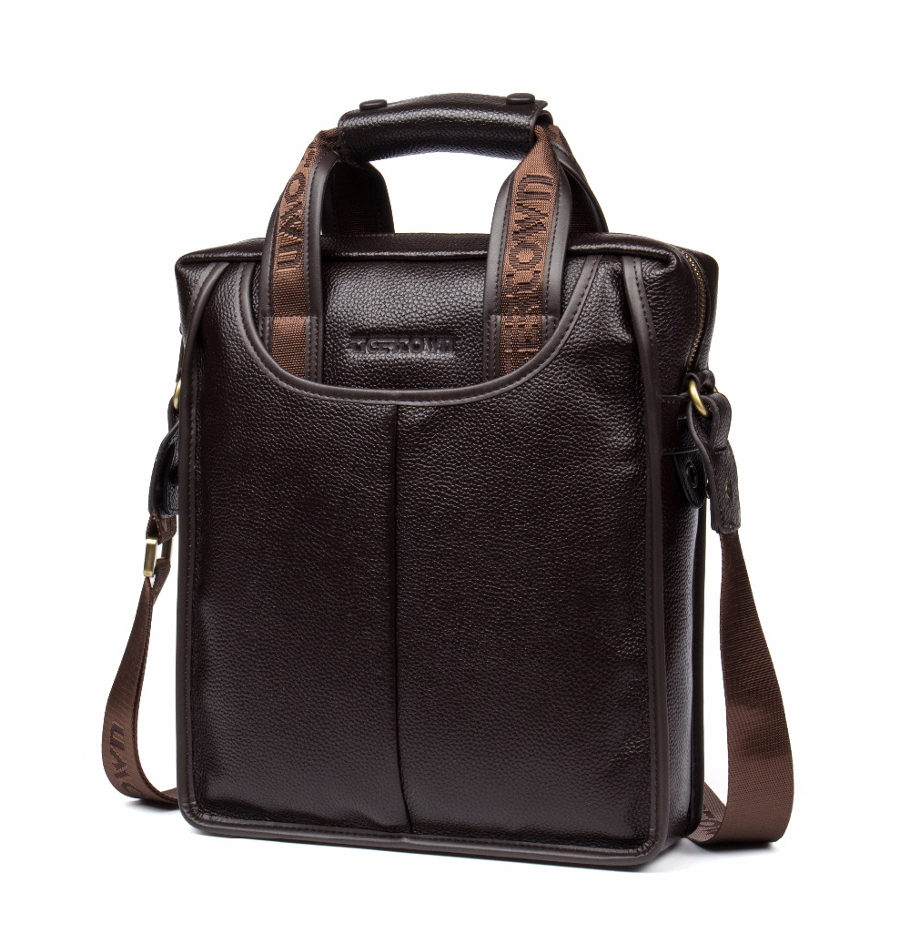 TigerTown 100% Top GENUINE LEATHER Cowhide Business Messenger Shoulder Casual Men's Bags Portable Briefcase Laptop Casual Purse top layer genuine cow leather cowhide shoulder leisure men s bag business messenger portable briefcase laptop casual purse