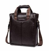TigerTown 100% Top GENUINE LEATHER Cowhide Business Messenger Shoulder Casual Men's Bags Portable Briefcase Laptop Casual Purse