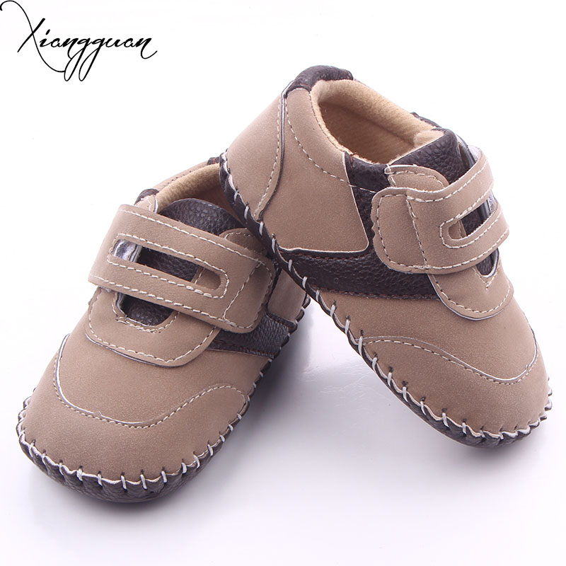 Baby Boy First Walkers Infant Walking Leather Newborn Baby Boy Shoes For 0-15 Months