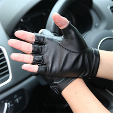 Half-Finger Pu Leather Gloves MenS Finger Tactics Outdoor Riding Half-Glove Autumn And Winter Thin PM013PN-5