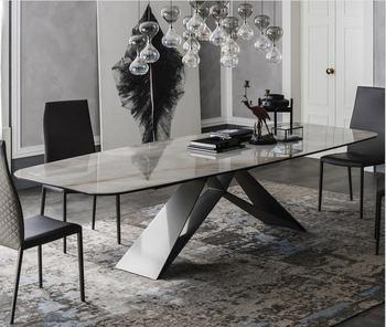 De madera maciza comedor muebles para el hogar moderno minimalista mármol  mesa de comedor y 6 sillas mesa de jantar muebles comedor >> LinLam Store
