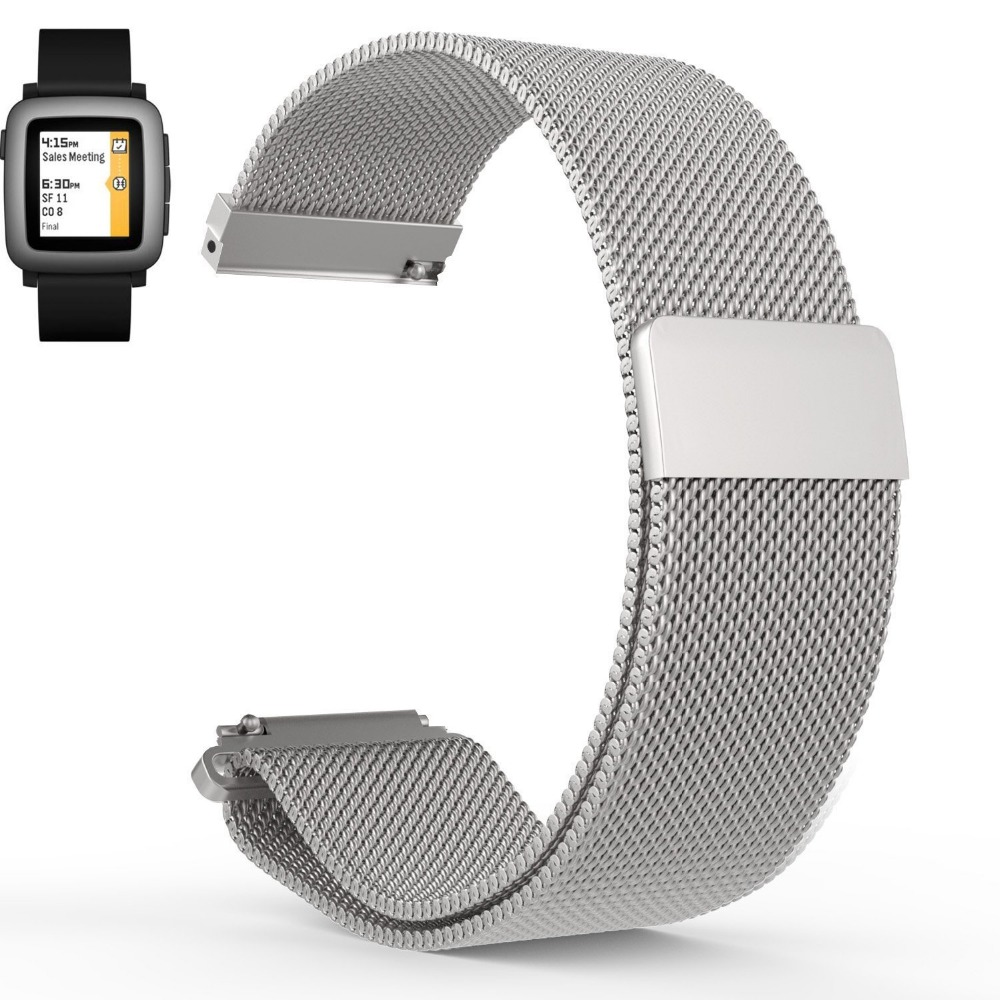 Hot-sales-Pebble-Time-Pebble-Time-Steel-Milanese-Magnetic-Loop-Replacement-Watch-Band-Strap-for-Pebble (4)