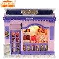 Miniatura de móveis casa de bonecas diy casas de boneca em miniatura casa de bonecas de madeira feitos à mão grownups brinquedos para crianças presente de aniversário C05