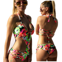 Bandage Swimsuit One Piece Swimming Suit 3