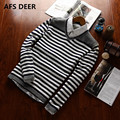 New Autumn Fashion Brand Casual Sweater V-Neck Striped Slim Fit Knitting Mens Sweaters And Pullovers Men Pullover Men christmas
