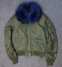 Пара одежда 2016 осень зимнее пальто женщины 100% реального ракун меховой овечьей шерсти водонепроницаемый негабаритных army green черная куртка «пилот»