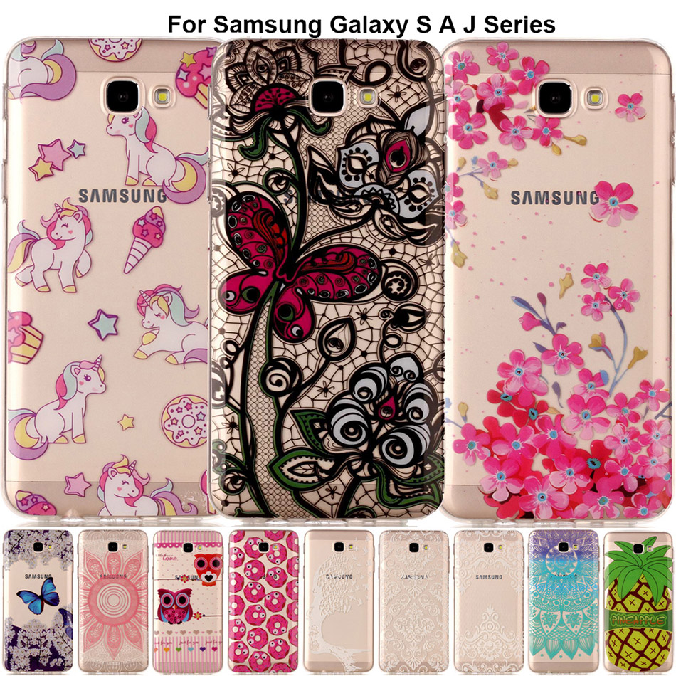 Galleria fotografica B67 Pretty Fruit Cartoon Phone Case Transparent Silicone Back Cover For Samsung Galaxy J3 2017 J5 Prime J7 On 5 7 A3 A5 A320 S8