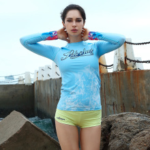 surfing floating diving female clothing beach sunscreen quick dry long sleeved shirt shorts split body swimming suit