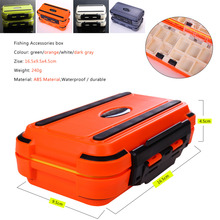 Sougayilang Plastic Fishing Box 16.5×9.5×4.5cm Double Sides Lure Box for Carp Fishing Accessories Tools Peche Fishing Tackle Box