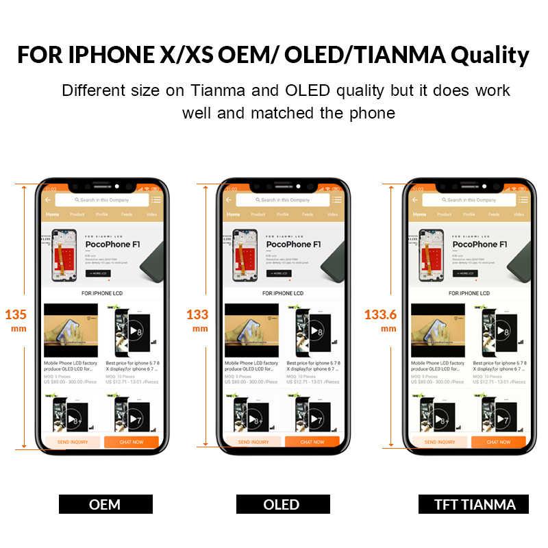 AMOLED Iphone 5 X XS Lcd ディスプレイデジタイザアセンブリ電話交換 Iphone XS 最大 XR 液晶タッチスクリーン