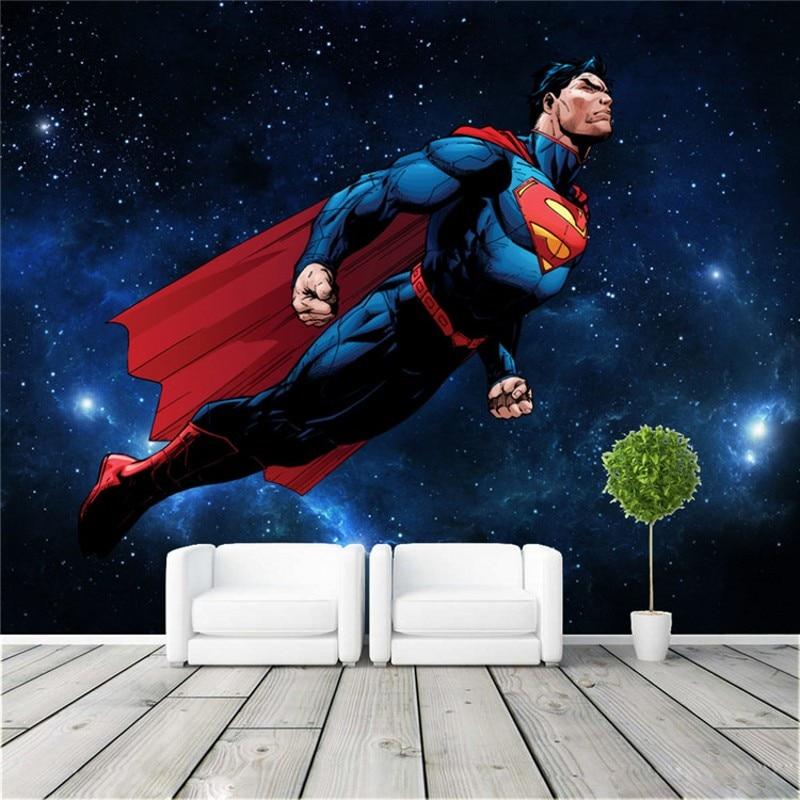 Unique Batman Vs Superman Bedroom Ideas That Rock: Popular Superman Mural-Buy Cheap Superman Mural Lots From