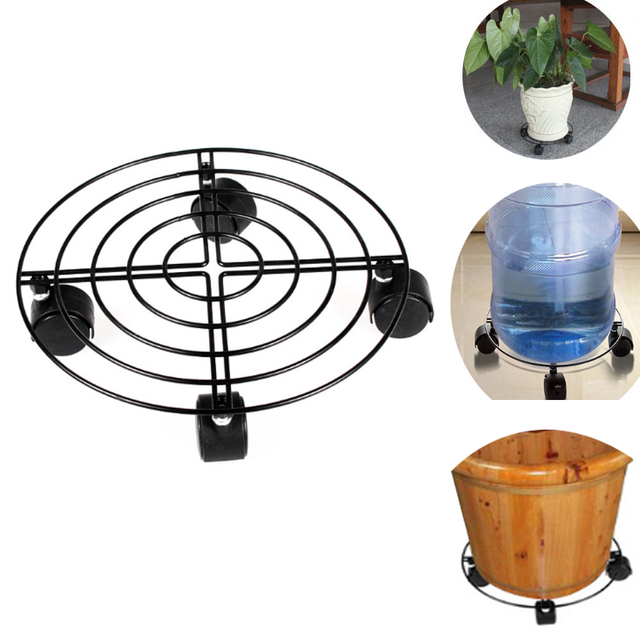Metal Plant Flower Pot Stand Trolley Caddy on Wheels Indoor Outdoor Home Garden tools