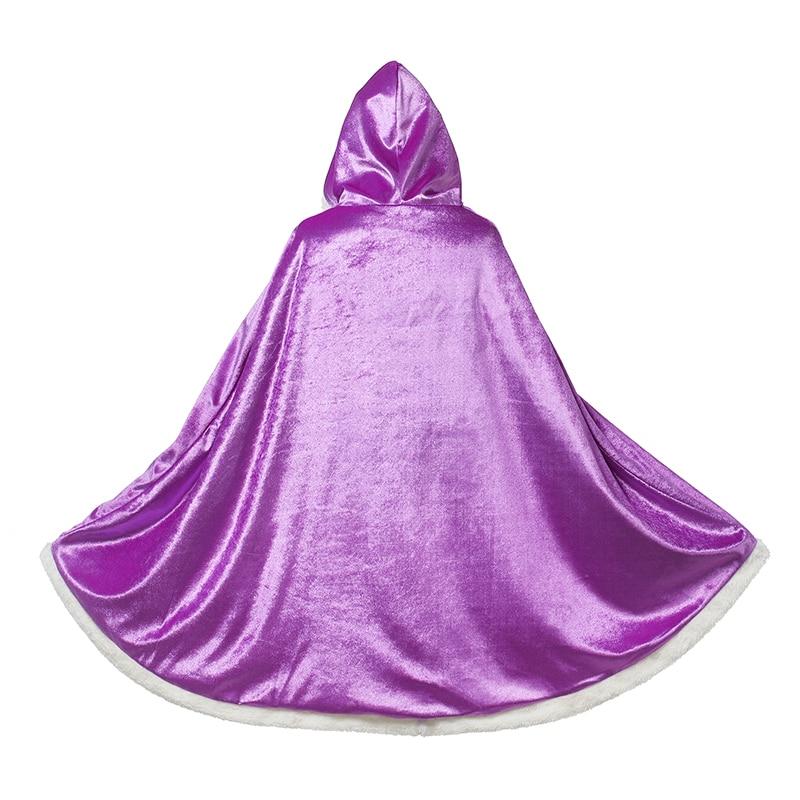 meninas princesa manto falso veludo capa traje 04