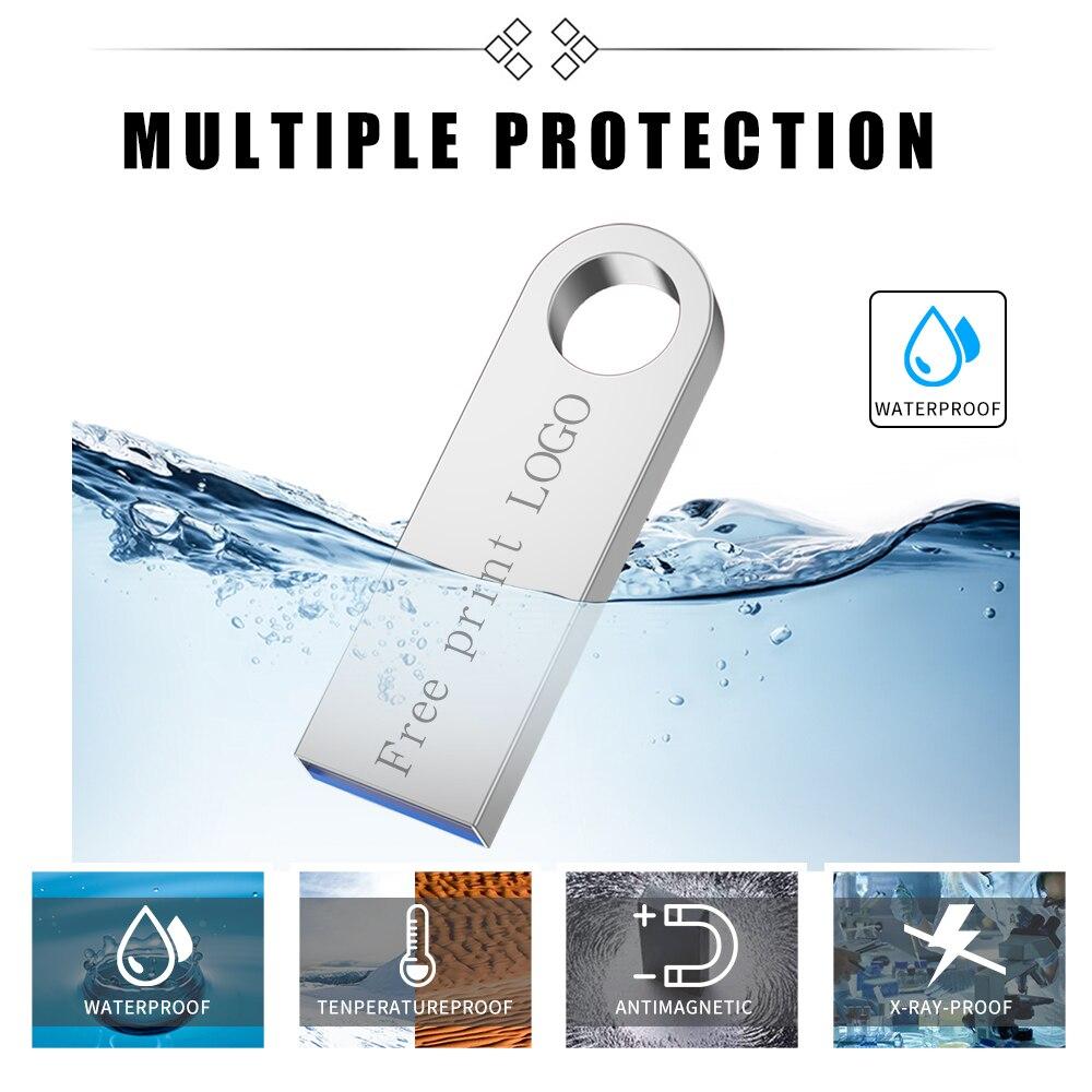 memory stick usb 3.0 metal waterproof usb flash drive 128gb U disk key Pendrive 64GB 32GB 16GB 8GB 4GB Pen Drive Mini Free logo (12)