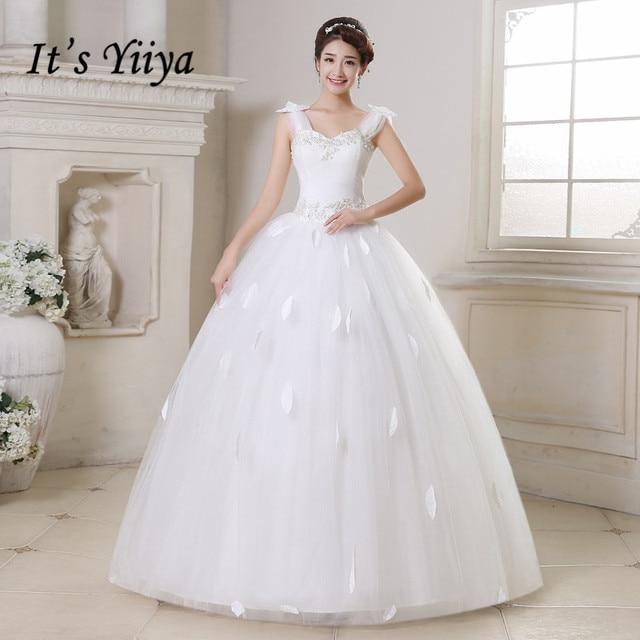 Free shipping YiiYa wedding dresses 2015 plus size lace wedding ...