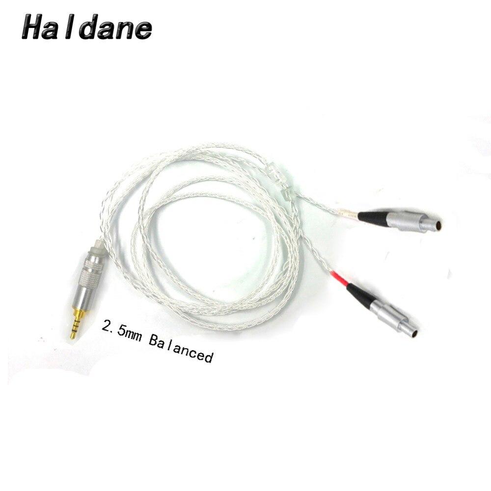 จัดส่งฟรี Haldane RSA/ALO 3.5/2.5/4.4 มิลลิเมตร Balanced 7N OCC + เงินชุบทองแดงสายสำหรับ HD800 HD800S HD820 หูฟังชุดหูฟัง