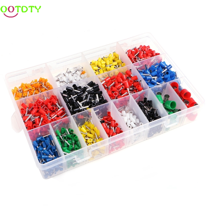 2120 Pcs Insulated Cord Pin End Terminal Bootlace Ferrules Kit Set Wire Copper  828 Promotion wholesal e1008 insulated cable cord end bootlace ferrule terminals tubular wire connector for 1 0mm2 wire 1000pcs