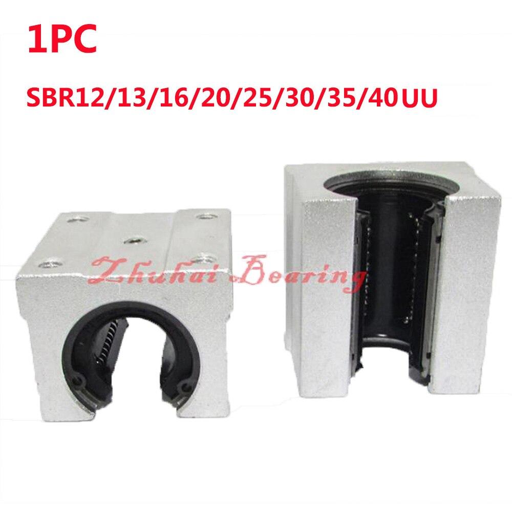 1PC Free shipping SBR12/13/16/20/25/30/35/40UU Linear Ball Bearing Block CNC Router