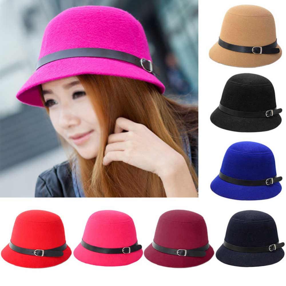 9aa55654de29c ... New Europe England Korean Vintage Hat Warm Fedoras Winter Women hat  fedora hat wool cap Large ...