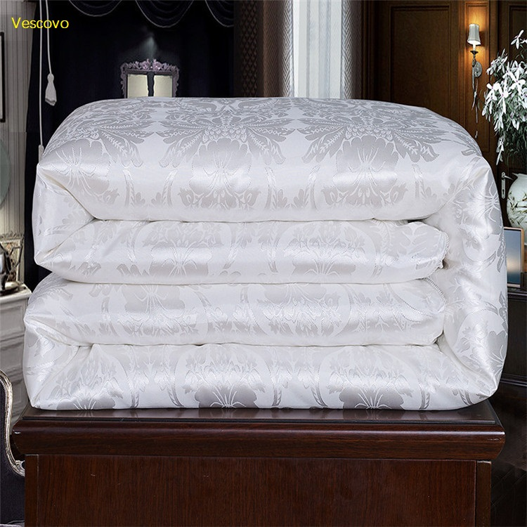 Vescovo Cotton fabric  filled with 100% Advanced natural Silk  Warm silky Summer comforter Twin Queen Full size quiltsVescovo Cotton fabric  filled with 100% Advanced natural Silk  Warm silky Summer comforter Twin Queen Full size quilts