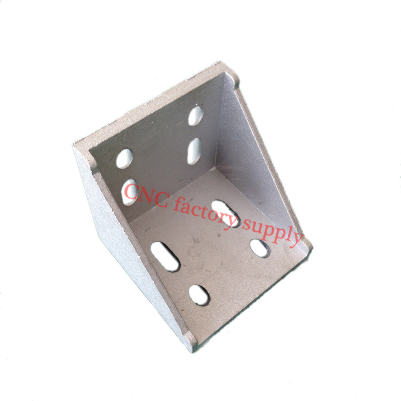 HOTSale 5pcs 8080 corner fitting angle aluminum L type  connector bracket fastener match use 8080 industrial aluminum profileHOTSale 5pcs 8080 corner fitting angle aluminum L type  connector bracket fastener match use 8080 industrial aluminum profile