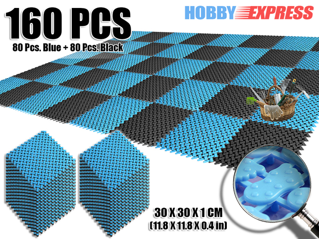Anti Slip Tegels : Nieuwe stks blauw en roze plastic vloeren mat tegels anti slip
