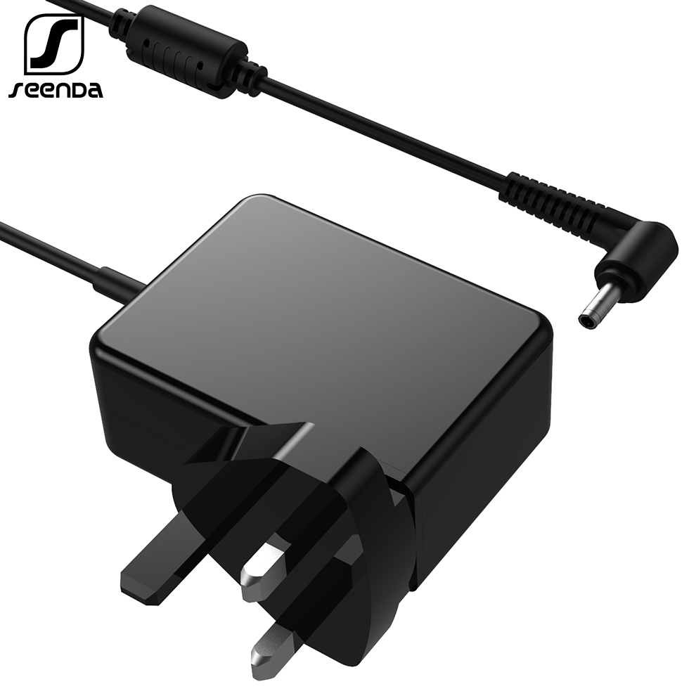 SeenDa <font><b>20V</b></font> <font><b>2.25A</b></font> 4.0*1.7mm AC <font><b>Laptop</b></font> Charger for <font><b>Lenovo</b></font> IdeaPad100-15 B50-10 YOGA 510-14 Notebook Charger <font><b>Power</b></font> Adapter UK Plug image