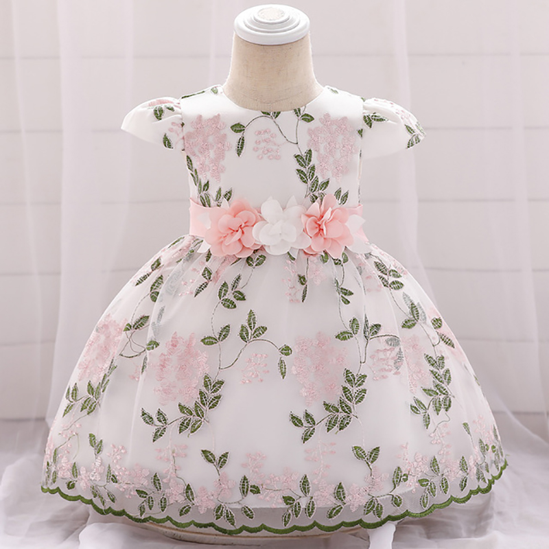 New Baby Girls Floral Cotton Party Dress From 6-9 to 18-24 Months