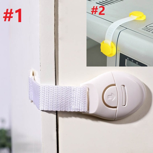 Us 272 20 Off2 Styles 10pcslot Safe Locks Cabinet Door Drawers Refrigerator Toilet Safety Plastic Lock For Child Kid Baby Safety Lock In Locks