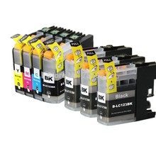 7X Inkjet Cartridge LC123 For Brother MFC-J4410DW MFC-J4510DW MFC-J4610DW MFC-J4710DW MFC-J470DW printer