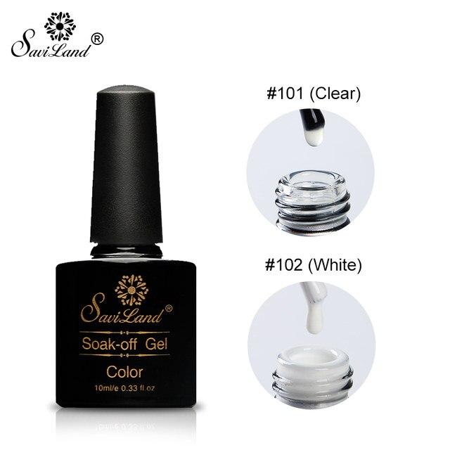 Online Shop Saviland 10ml White Clear Blooming Gel Nail Polish UV ...