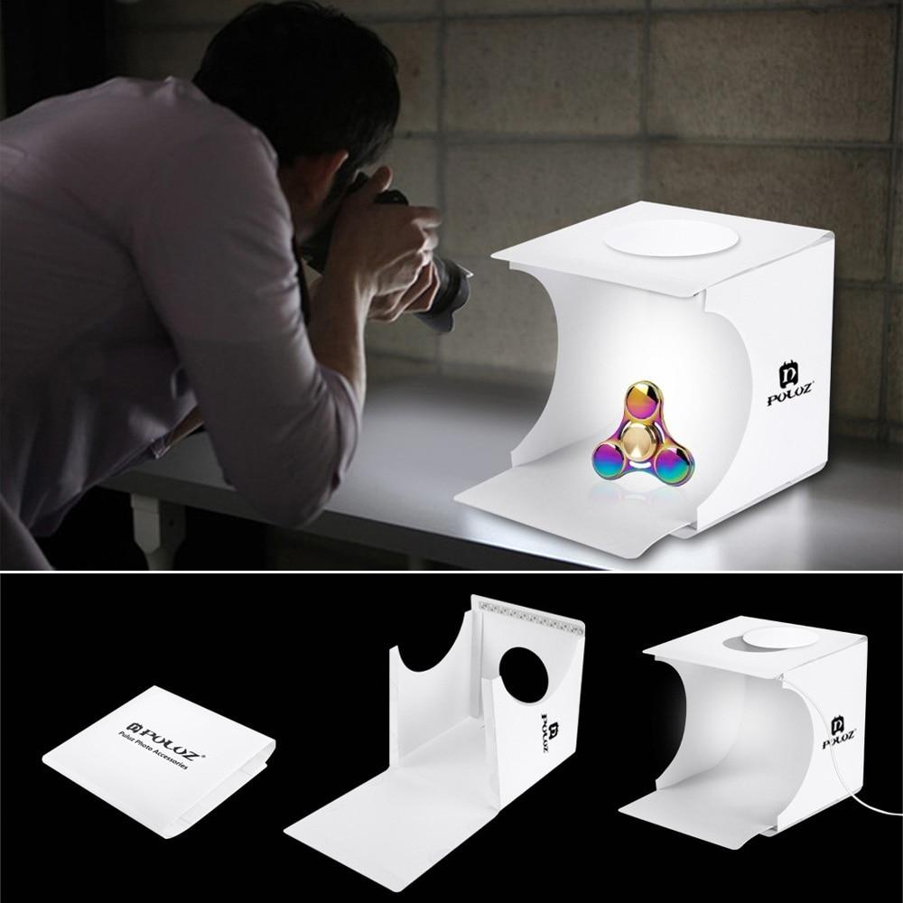 Image 3 - Dual LED Panels Folding Portable Photo Video Box Lighting Studio Shooting Tent Box Kit Emart Diffuse Studio Softbox lightboxPhoto Studio Accessories   -