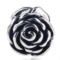 Fits Pandora Charms Bracelets Original 925 Sterling Silver Rose Flower Charm DIY Jewelry Free Shipping