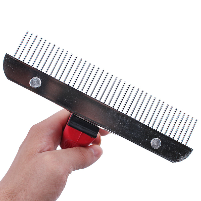 Pet Cat Dog Comb Brush Large Dogs Open Knot Rake Comb Grooming Brush Deshedding Tool for Large Dogs Golden Retrieve