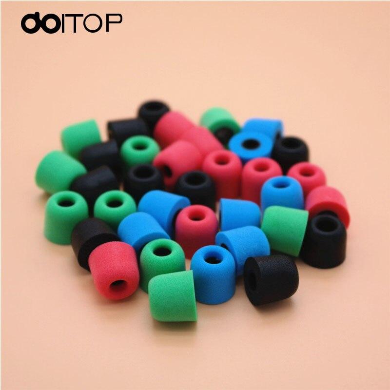 DOITOP 4pcs/2pair T400 4.9mm Mini Memory Foam Earplug headphone Ear Pads Sponge Ear Cups In-Ear Earbuds Headset Bud Tips Eartips