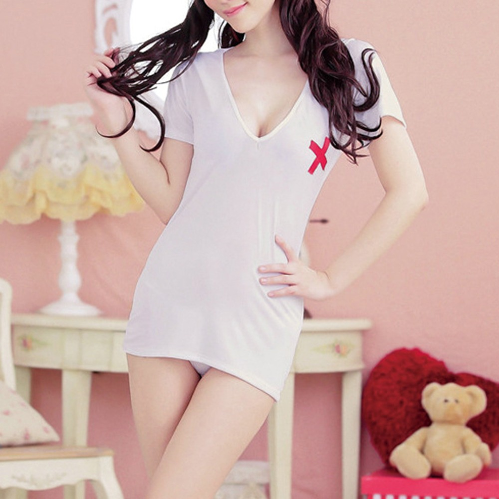 Fantasia nurse erotic lingerie uniform hot sexy lingerie women hollow out sexy costumes temptation sex dress
