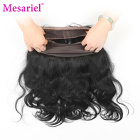 Mesariel Brazilian Body Wave 360 Lace Frontal Closure Free Shipping Non Remy Hair Natural Black Color