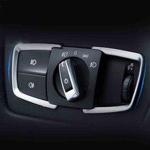 Стайлинга автомобилей фар рамка для переключателей лампа декоративные панели 3D Наклейка Обложка прокладки уравновешивания Интерьер Литье для BMW X5 X6 F15 F16 E70