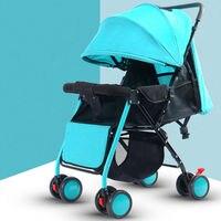 Детские Коляски складной коляски Высокая Пейзаж сидеть и лежать коляски для новорожденных Детские четыре колеса сайт Kidstravel Yoyaplus автомобил