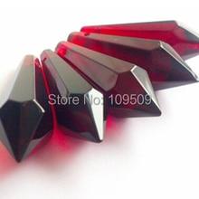 Продвижение, 25 шт. Темно-Красный 38 мм Люстра Хрустальная Сосулька Люстра Crystal Prism Люстра Blood Red Падения Подвеска