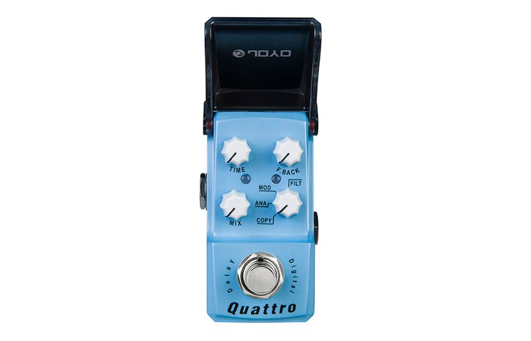 JOYO JF-318 Quattro Mini Guitar Pedal 4 modes Delay(COPY /ANALOG /MODULATION /FILTERED) Guitar Effect Pedal True Bypass joyo jf 33 analog delay pedal guitar pedal 1 pc pedal connector guitar effect pedal