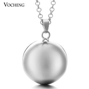Image 4 - 10 יח\חבילה Vocheng תינוק פעמון עגול תכשיטי תליון שרשרת עם נירוסטה שרשרת VA 054 * 10 משלוח חינם