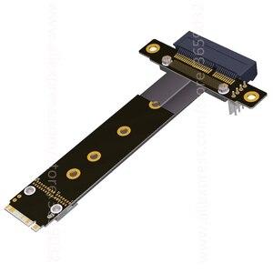 Image 3 - Riser PCIe x4 3.0 PCI E 4x ถึง M.2 NGFF NVMe M 2280 Riser Card Gen3.0 สาย M2 Key   M PCI   Express สายต่อ 32 กรัม/bps