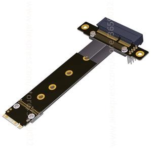 Image 3 - Riser PCIe x4 3.0 PCI E 4x To M.2 NGFF NVMe M Key 2280 Riser Card Gen3.0 Cable M2 Key M PCI Express Extension cord 32G/bps