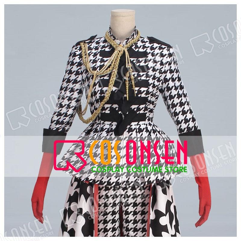 Black Butler Ciel Phantomhive Bird Illustration Fan Art Checker Dress Cosplay Costume new adult COSPLAYONSEN costume
