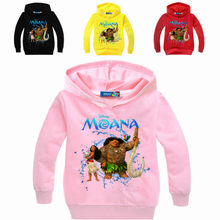 Children Clothes Moana Printed Boys Sweatshirts Long Sleeve T-shirts Baby Girl Hoodies Spring Clothes Toddler Outerwear Tops Tee(China)